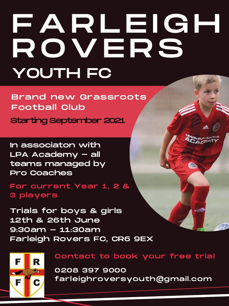 Farleigh Rovers Youth Trials